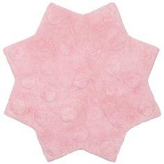 Tapis lavable étoile Little Stella rose (90 cm)