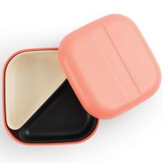 Lunch box en bambou Bento Go Square rose corail
