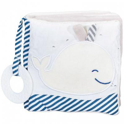 Livre bébé en tissu Blue baleine  par Sauthon