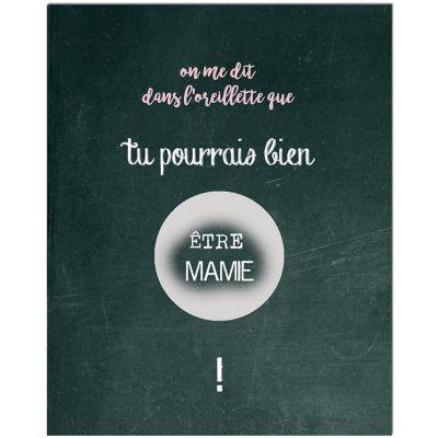 Carte à gratter Annonce de grossesse Chalkboard Mamie (8 x 10 cm)