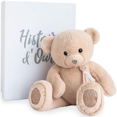 Coffret peluche ours Charms beige (40 cm)  par Histoire d'Ours