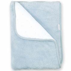 Couverture Pady réversible bleu gris breeze (75 x 100 cm)