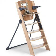 Chaise haute évolutive en bois 4 en 1 Kitgrow naturel anthracite