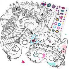 Masques à colorier Princesse (6 pièces)