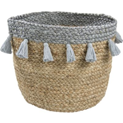 panier de rangement aslesha en jute 30 x 30 cm par nattiot. Black Bedroom Furniture Sets. Home Design Ideas
