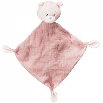 Doudou plat rose ours Lily poudrée  par Sauthon