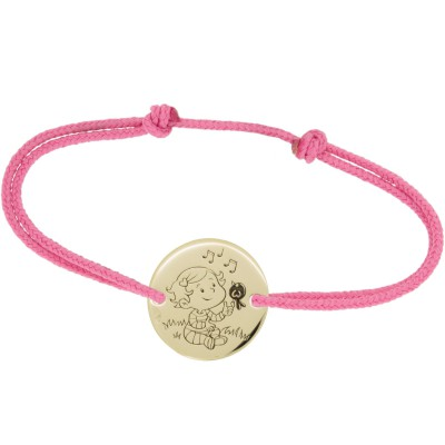 Bracelet cordon enfant Câline (or jaune 375°)   par La Fée Galipette