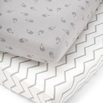 Lot de 2 draps housses hérisson gris (70 x 140 cm)  par Mamas and Papas