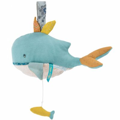 Doudou musical à suspendre baleine Joséphine Le voyage d'Olga (25 cm)  par Moulin Roty