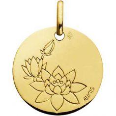 Médaille Fleur de Lotus (or jaune 750°)