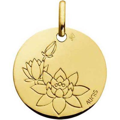 Médaille Fleur de Lotus (or jaune 750°)  par A.Augis