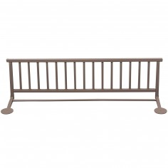 Barrière de lit en bois massif laqué taupe