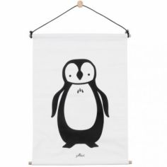Affiche kakemono en tissu Pingouin (42 x 60 cm)