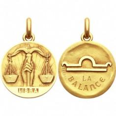 Médaille signe Balance avec revers (or jaune 750°)