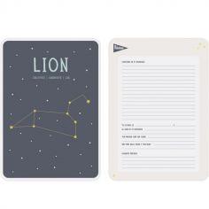 Affiche signe astrologique Lion (21,4 x 32,5 cm)
