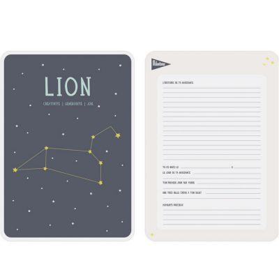 Affiche signe astrologique Lion (21,4 x 32,5 cm)  par Milestone