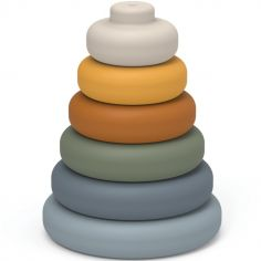 Pyramide à empiler en silicone Dag blue multi mix
