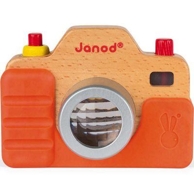 Appareil photo factice en bois sonore  par Janod