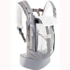 Pack Evolution porte bébé PhysioCarrier gris et bleu + booster réhausseur et cale-tête