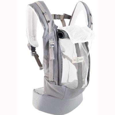 Pack Evolution porte bébé PhysioCarrier gris et bleu + booster réhausseur et cale-tête Je Porte Mon Bébé / Love Radius