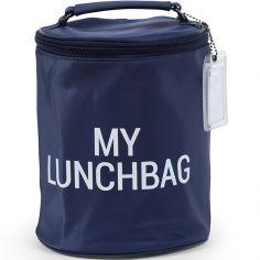 Sac isotherme My lunchbag marine et blanc