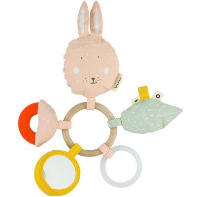 Anneau hochet d'activités lapin Mrs. Rabbit  par Trixie