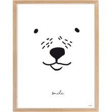 Affiche encadrée ours Smile (30 x 40 cm)  par Mimi'lou