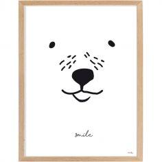 Affiche encadrée ours Smile (30 x 40 cm)