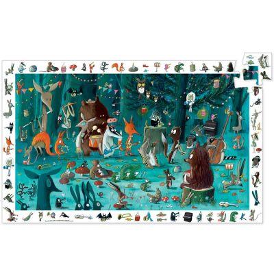 Puzzle cherche et trouve Orchestre des animaux (35 pièces)  par Djeco