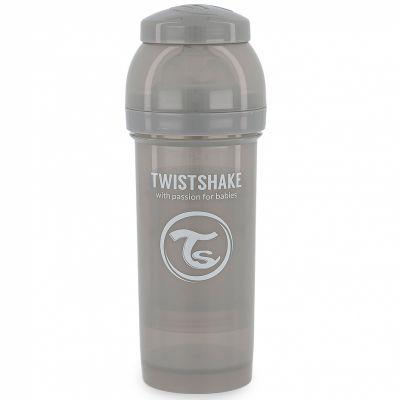 Biberon anti-colique gris pastel (260 ml)  par Twistshake