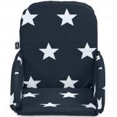 Coussin chaise haute Little star étoile bleu marine - Jollein
