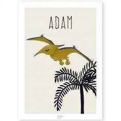 Affiche A3 Ptéranodon Les Dinosaures (personnalisable)