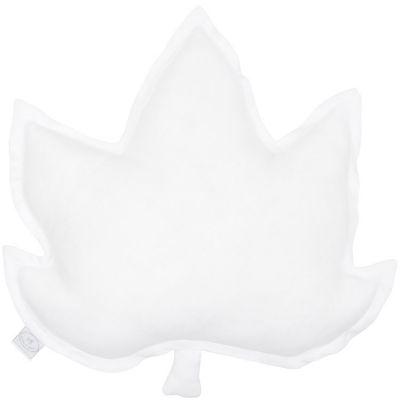 Coussin feuille d'érable blanc (43 cm)  par Cotton&Sweets