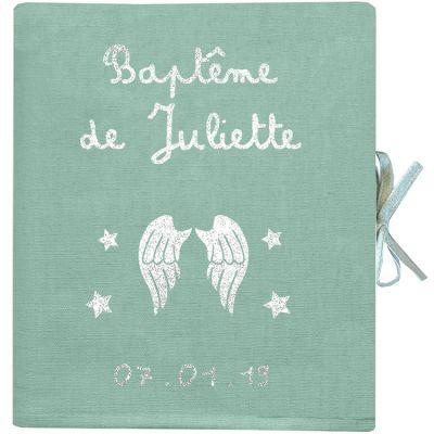 Album photo baptême personnalisable vert amande (126 pages)  par Les Griottes