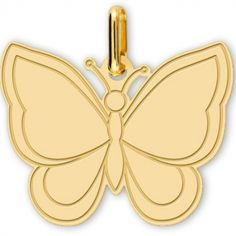 Pendentif Papillon (or jaune 375°)
