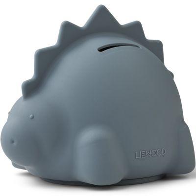 Tirelire en silicone Palma Dino whale blue (13 cm)  par Liewood