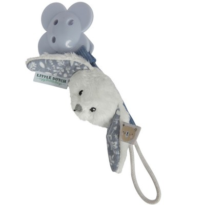 Attache sucette lapin Adventure blue  par Little Dutch