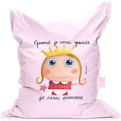Pouf Quand je serai grande je serai princesse  par Isabelle Kessedjian