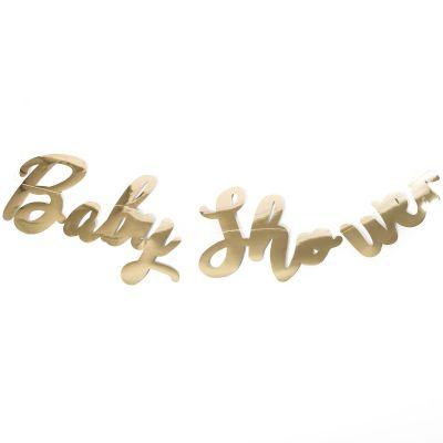 Guirlande Baby shower dorée  par Arty Fêtes Factory