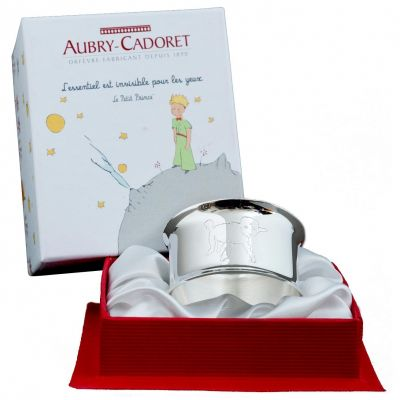 Rond de serviette Petit Prince Mouton personnalisable (métal argenté)  par Aubry-Cadoret