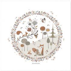 Affiche carrée Little Forest (29,7 x 29,7 cm)