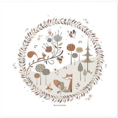 Affiche carrée Little Forest (29,7 x 29,7 cm)  par Lutin Petit Pois