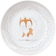 Assiette en porcelaine Renard (personnalisable)