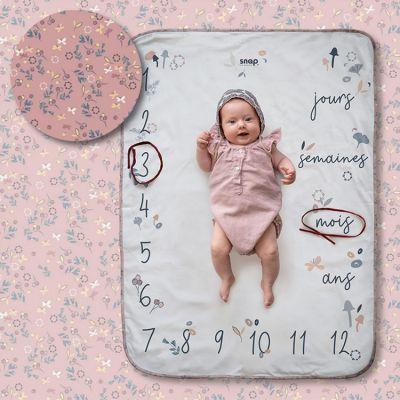 Couverture étapes de bébé Flora  par Snap The Moment