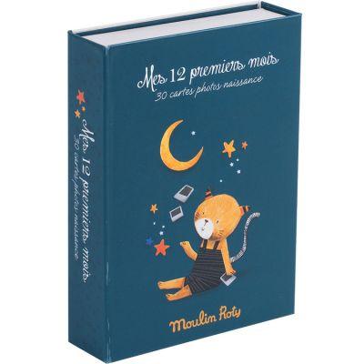 Cartes étapes Mes 12 premiers mois Mes Moustaches (30 cartes)  par Moulin Roty
