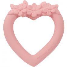 Anneau de dentition en caoutchouc Coeur rose  par A Little Lovely Company