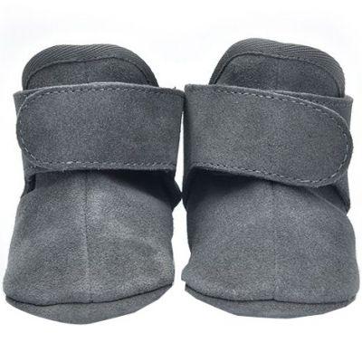 Bottes bébés en cuir gris foncé (6-12 mois) Lodger