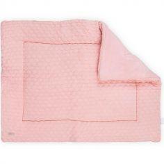 Tapis de jeu Fancy knit rose poudré (80 x 100 cm)