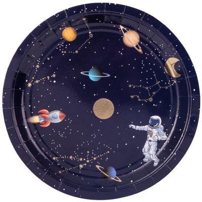 Lot de 8 assiettes en carton Astronaute