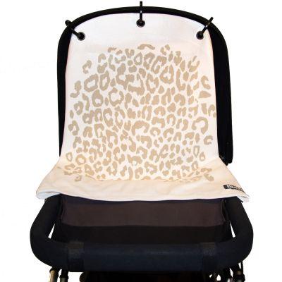 Protection pour poussette Baby Peace coton bio Léopard blanc  par Kurtis